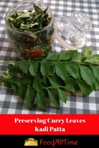 Preserving Curry Leaves-Kadi Patta (1)