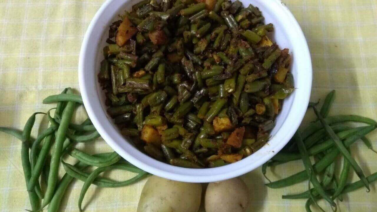 green beans cooked