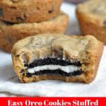 Easy Oreo Cookies Stuffed Chocolate Chip Muffins