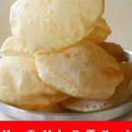 Poori Recipe For Making Soft Puffy Poori