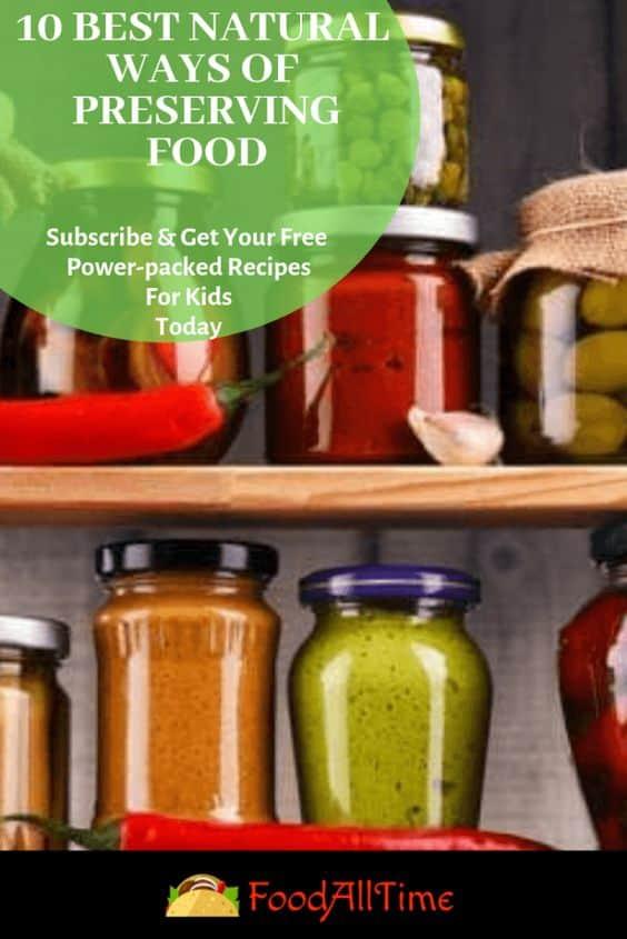 Natural Methods of Food Preservation