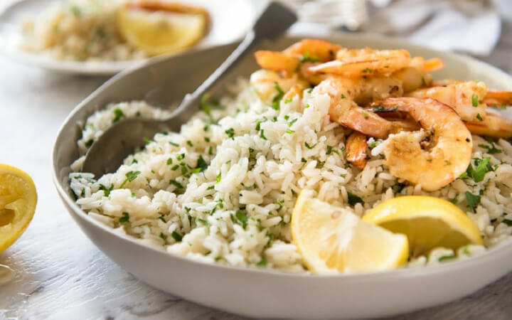 Scrumptious Flavoured Lemon Rice Pilaf