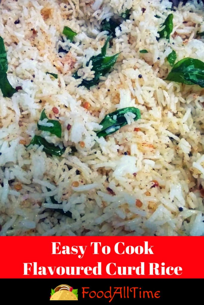 Easy To Cook Flavoured Curd Rice Recipe