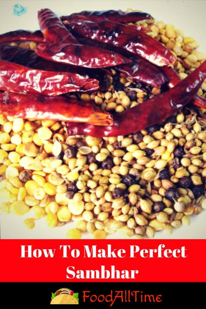 How To Make Perfect Sambhar Masala Recipe