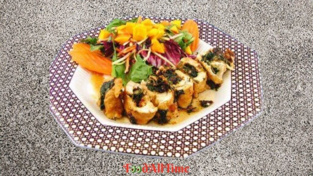 Chicken Roulade Stuffed With Spinach And Mango
