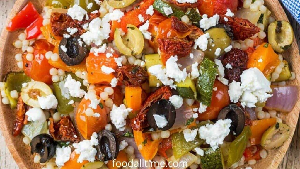 Couscous Salad With Roasted Vegetable And Mixed Herbs
