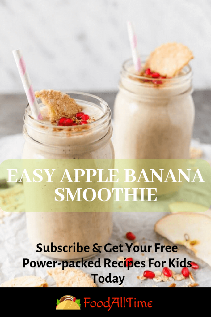 Spicy Apple Banana Smoothie