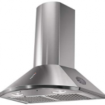 Faber 60cm 1295 m3/hr Chimney (HOOD TENDER 3D, 2 Triple Layer Baffle Filters, Steel/Grey)