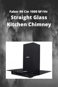 Faber 90 Cm 1000 M³_Hr Straight Glass Kitchen Chimney