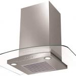 Faber 60cm 1000 m3/hr Chimney (Hood Ray plus LTW 60, 1 Baffle Filter, Steel/Grey)