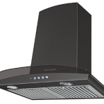 Faber 60cm 1000 m3/hr Chimney (Hood Tratto Plus BK LTW 60, 2 Triple Layer Baffle Filters, Black)