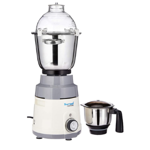 Sumeet Traditional Hotel King 1250-Watt Mixer Grinder with 2 Jars (White and Grey)