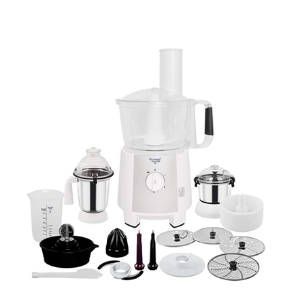 Sumeet Fp-999 750W Stainless Steel Food Processor cum Mixer Grinder (Black and White)