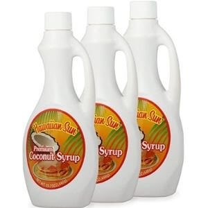 3 Pack of Premium Hawaiian Coconut Syrup