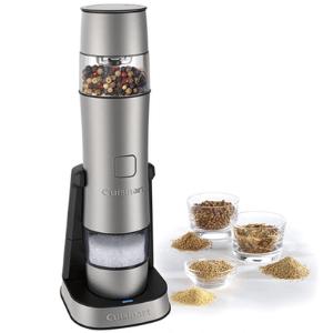 Cuisinart SG-3 Stainless Steel Rechargeable Salt, Black Pepper grinder, sea salt and black pepper grinder