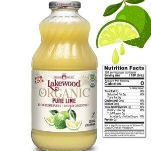 Lakewood Pure Lime, Fresh Pressed, 32 Fl Oz (Pack of 6)