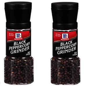 McCormick Black Peppercorn Grinder 2 Pack - 2.5 OZ
