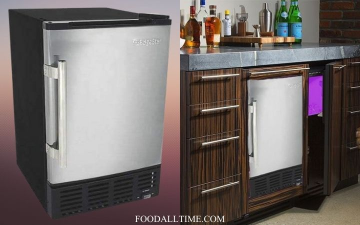EdgeStar IB120SS Built in Ice Maker, 12 lbs, Stainless Steel and Black, 7 Best Buy Countertop Ice Maker, Step Up Your At-home Ice Game