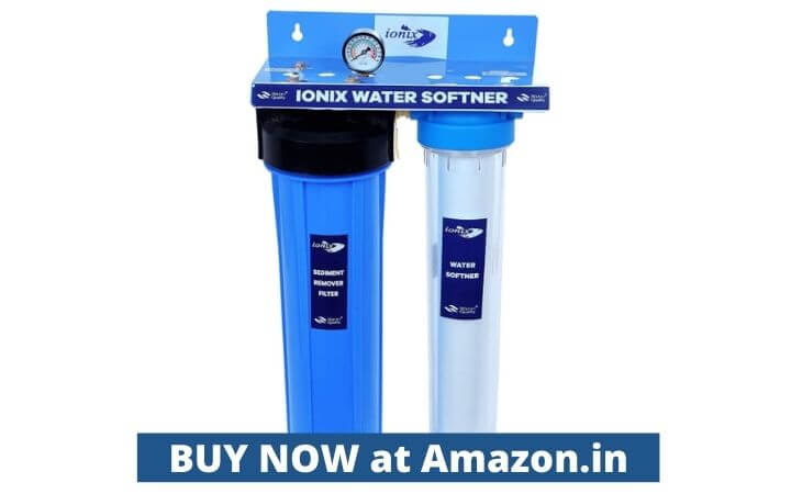 Ionix Water softener for hard water/Whole house water filteration system, Dual Filter setup with Sediment removal, water softener for hard water (1 Year Warranty)