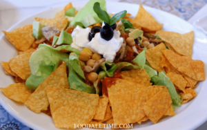 Yummy Mexican Salad with Nacho Chips
