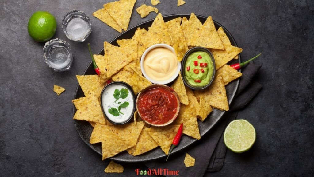 What are Nachos, Yummy Mexican Salad with Nacho Chips
