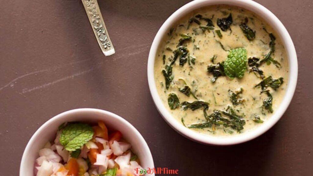 How To Cook Simple And Easy Palak Ka Raita   Spinach Raita   Bathua Ka Raita